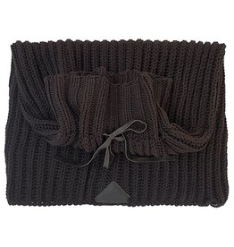 Pimps and Pearls Knitted Snood Sjaal 02 Midnight Brown