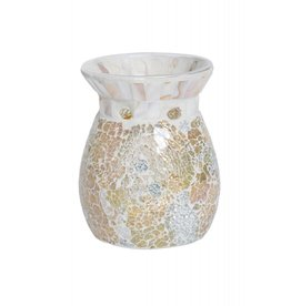 Yankee Candle Gold & Pearl Crackle Melt Warmer - Tart Burner