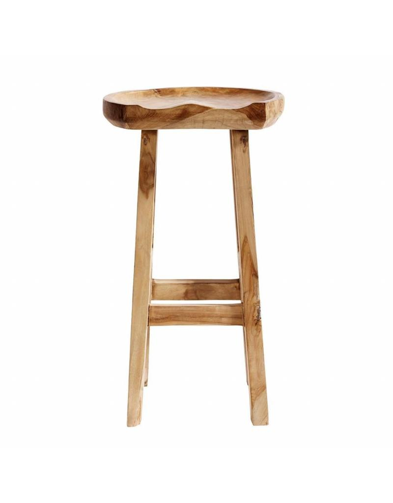 Excellent Muubs Barkruk Bar Stool Oval Teak Gmtry Best Dining Table And Chair Ideas Images Gmtryco
