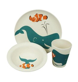 ZuperZozial Kids eetset - Hungry Whale set/3