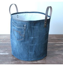 Lowieke Recycled Jeans - Opbergmand XXL rond