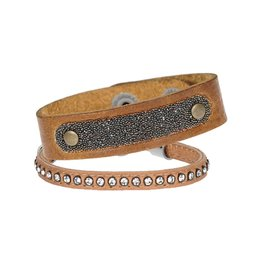 Pimps and Pearls Moesss Swarovski Set 03 Cognac