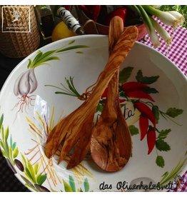Bijzonder Design Store Saladebestek set Olijfhout 30cm