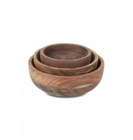 Stuff Design Bowls set of 3 Sheesham - 15 cm / 12,5 cm / 10 cm
