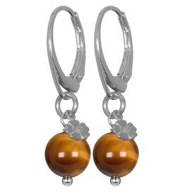Pimps and Pearls EarRing Rocks 24 Tiger Eye