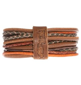 Pimps and Pearls Moesss Superior Armband 118 Russet Orange