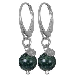Pimps and Pearls EarRing Rocks 26 Jaspis Green Pretty