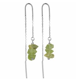 Pimps and Pearls EarChain Rocks 30 Peridot Pretty