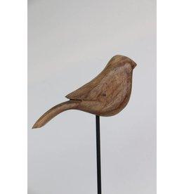 Bijzonder Design Store Decoratie vogel hout met staander