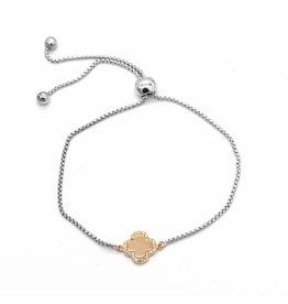 LAVYY Lucky Charm Armband Zilver en Rose-Goud