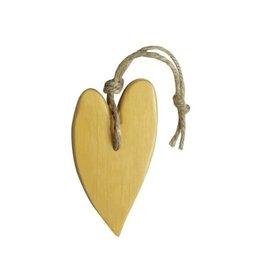 Mijn Stijl Zeephanger XL olijfzeep Hart 100 gram goudkleurig - Parfum Patchouli Ylang Ylang