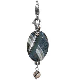 Pimps and Pearls Moesss2Be Premium 1949 Black Blue Agate Kwarts