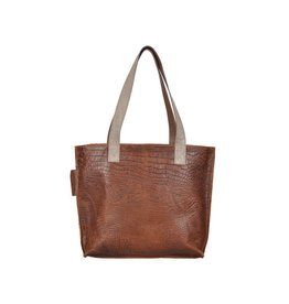 Pimps and Pearls Tasss 12 - Shopper Lys Croco 12 Mocca