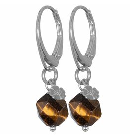 Pimps and Pearls EarRing Rocks 35 Facet Tiger Eye Pretty