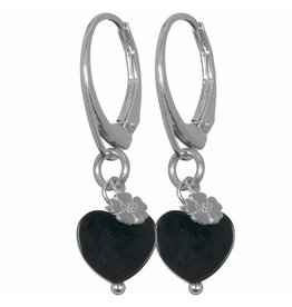 Pimps and Pearls EarRing Rocks 33 Onyx Hearts