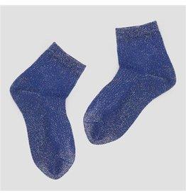 PiNNED by K Socks Stripe Glitter Blue