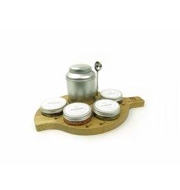 Dutch Tea Maestro Tea Maestro - Plateau Set: serveerplank, blikje, lepel