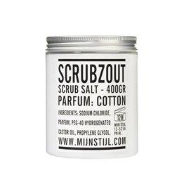 Mijn Stijl Scrubzout parfum Cotton 400 gram