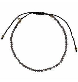 Pimps and Pearls Mini Rocks Pull Bracelet 04 Smokey Quartz Fine