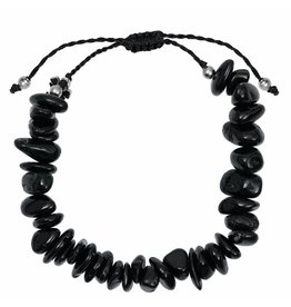 Pimps and Pearls Fine Rocks Pull Bracelet 01 Onyx
