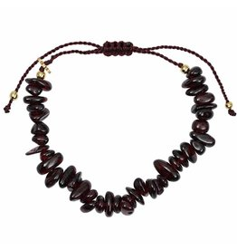 Pimps and Pearls Fine Rocks Pull Bracelet 03 Red Garnet