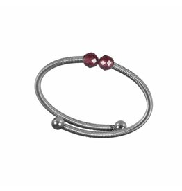 Pimps and Pearls Ring Flex 04 Red Garnet