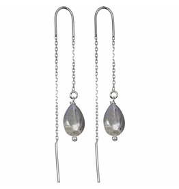 Pimps and Pearls Fine Earchain 01 Labradorite Tears
