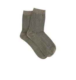 PiNNED by K Socks Stripe Glitter Grey Gold