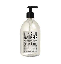 Mijn Stijl Handzeep parfum Linnen 500 ml (wit-zwart etiket)