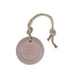 Mijn Stijl Zeephanger Rond - roze - geur Herbal Meleze - 70 gram