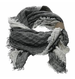 Pimps and Pearls Maxima Wrap Sjaal 05 Black White