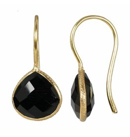 Pimps and Pearls Earring Riva Fine Gems 01 Black Agate Gold