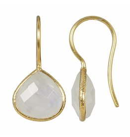 Pimps and Pearls Earring Riva Fine Gems 06 Moonstone Gold