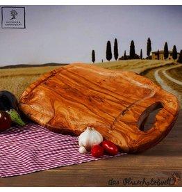 Das Olivenholzbrett Snijplank Olijfhout - Natuurlijke vorm met handvat