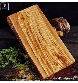 Das Olivenholzbrett Snijplank Olijfhout - Natuurlijke vorm - 50cm x25cm x2,5cm
