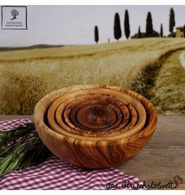 Das Olivenholzbrett Schalenset Olijfhout -  6-delig - van 5 cm tot 15 cm