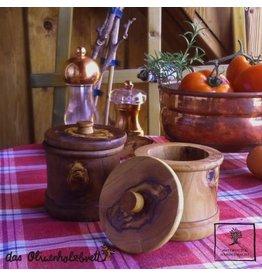 Das Olivenholzbrett Kruidenpot met deksel - Olijfhout