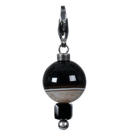 Pimps and Pearls Moesss2Be Gotcha 71 Agate Black and White