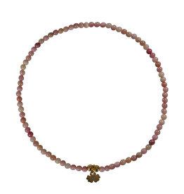Pimps and Pearls Mini Rocks Bracelet 07 Rhodonite Fine