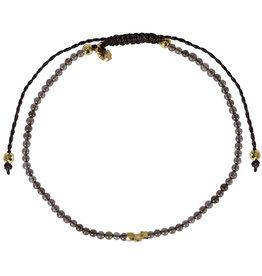 Pimps and Pearls Mini Rocks Pull Bracelet 11 Smokey Quartz Fine