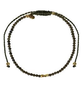 Pimps and Pearls Mini Rocks Pull Bracelet 12 Obsidaan Fine