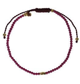 Pimps and Pearls Mini Rocks Pull Bracelet 14 Spinel Ruby Fine