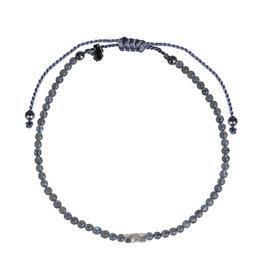 Pimps and Pearls Mini Rocks Pull Bracelet 15 Labradotite Fine