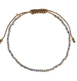 Pimps and Pearls Mini Rocks Pull Bracelet 16 Moonstone Facet Fine