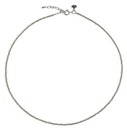 Pimps and Pearls Fine Pretty Gems Necklace Silver 12 Peridot