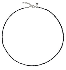 Pimps and Pearls Fine Pretty Gems Necklace Silver 16 Black Onyx