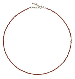 Pimps and Pearls Fine Pretty Gems Necklace Silver 22 Garnet