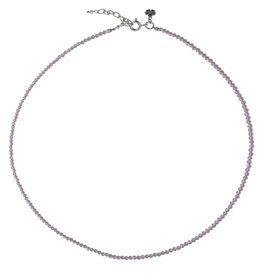 Pimps and Pearls Fine Pretty Gems Necklace Silver 26 Rosekwarts