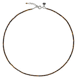 Pimps and Pearls Fine Pretty Gems Necklace Silver 27 Tiger Eye