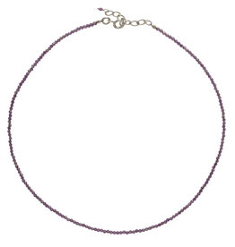 Pimps and Pearls Fine Pretty Gems Necklace Silver 28 Amethist